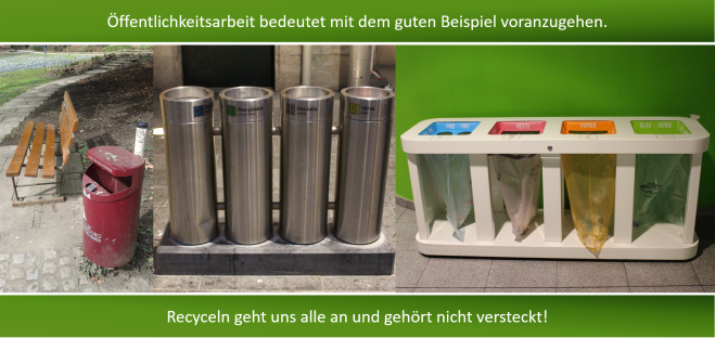 Recycling in der Öffentlichkeit