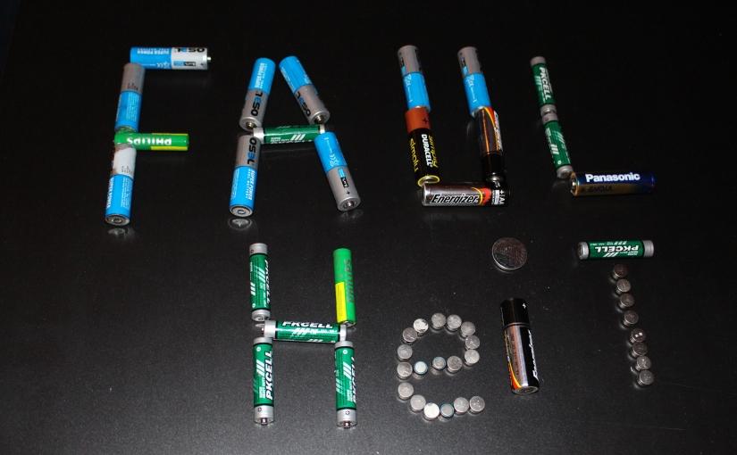 nicht aufladbare Batterien