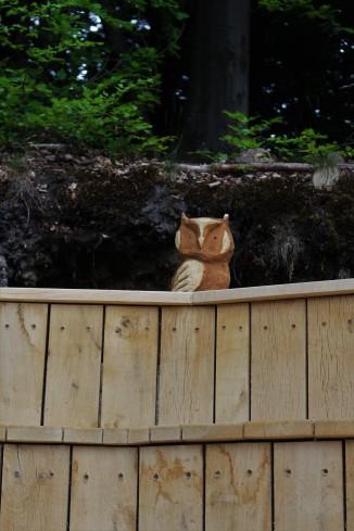 Amphietheater Holzfigur Eule