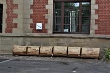 Fahrradständer aus Holz