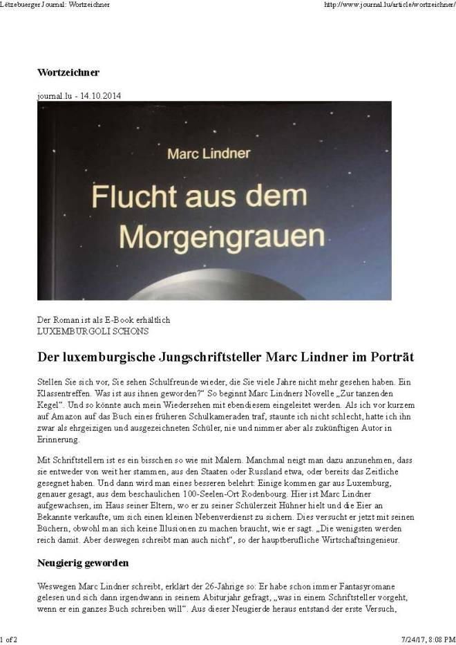 Journal - Wortzeichner 14.10.2014